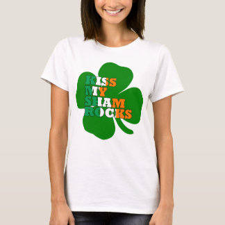 Kiss my shamrocks Irish T-Shirt