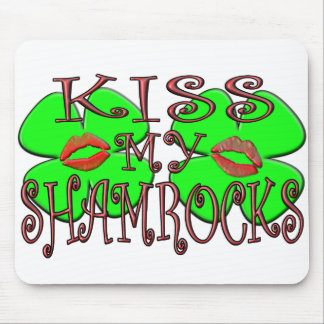 Kiss My Shamrocks (Lips) Mouse Pad