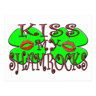 Kiss My Shamrocks (Lips) Postcard