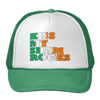 Kiss my shamrocks St Patricks Cap