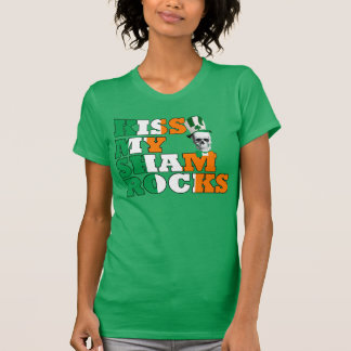 Kiss My Shamrocks St Patricks T-Shirt