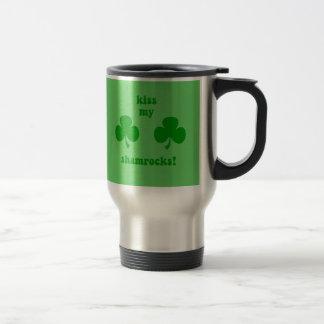 kiss my shamrocks travel mug