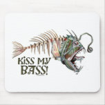 Kiss My Ugly Bass by Mudge Studios Mouse Pad