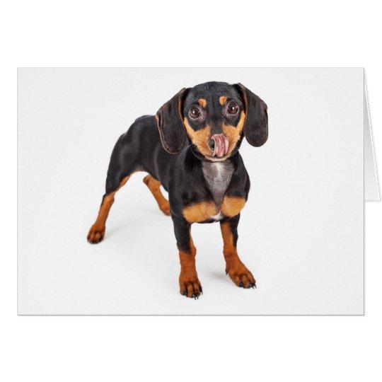 Kiss My Wiener Greeting Card