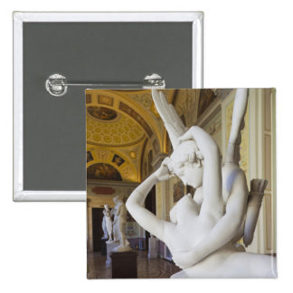 Kiss of Cupid and Psyche, by Antonio Canova 2 15 Cm Square Badge