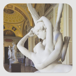 Kiss of Cupid and Psyche, by Antonio Canova 2 Square Sticker