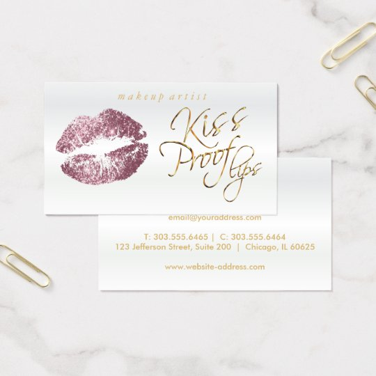Kiss Proof Lips - Pink Rose Glitter Business