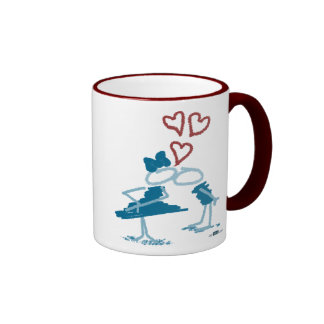 Kiss. Ringer Coffee Mug