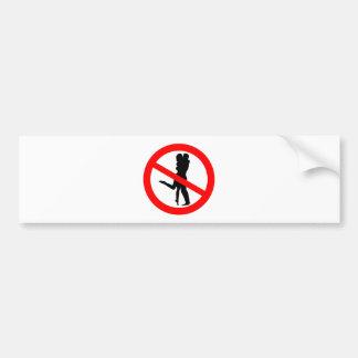 Kiss Road Sign Bumper Sticker