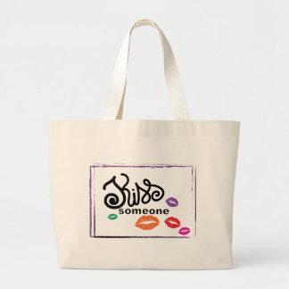 Kiss Someone Jumbo Tote Bag