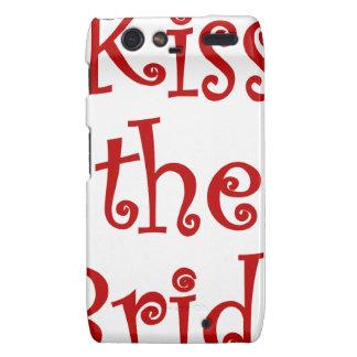 Kiss the Bride Motorola Droid RAZR Cases