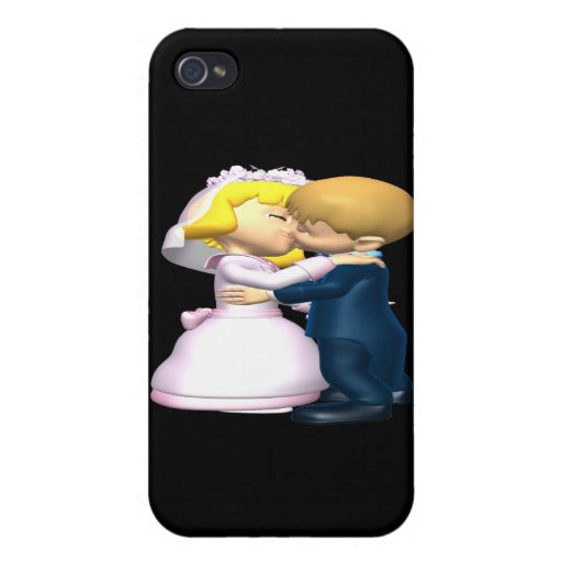 Kiss The Bride iPhone 4 Cover