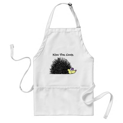 Kiss The Cook Hedgehog Apron