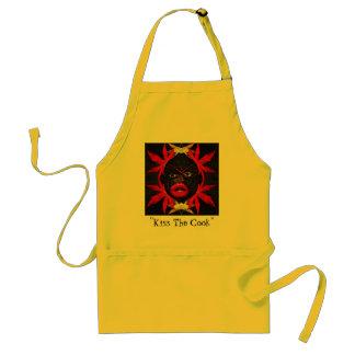 """Kiss The Cook"" humorous apron"