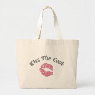 Kiss the Cook Jumbo Tote Bag