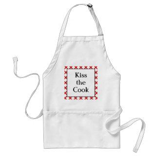 Kiss the Cook Kitchen Custom Retro Saying Standard Apron