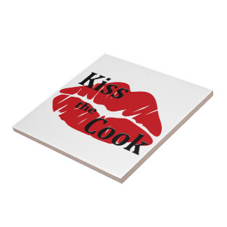 Kiss the Cook Tile Trivet