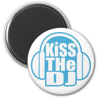 Kiss the DJ 6 Cm Round Magnet