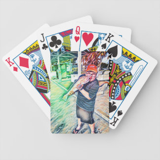 Kiss the Fish Bicycle Playing Cards