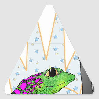 Kiss the Frog Triangle Sticker