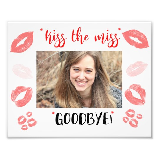 Kiss the Miss Goodbye Bridal Shower Gift Frame