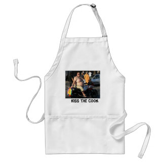 Kiss the ugly cook standard apron