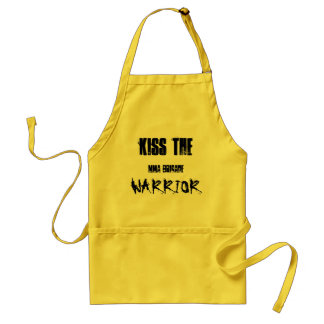 KISS THE, WARRIOR, mma brigade Standard Apron