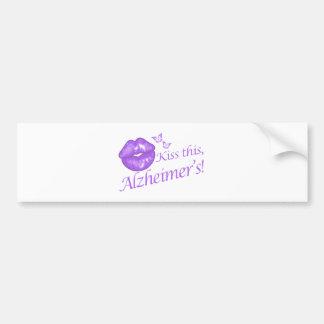 Kiss This Alzheimer's! Bumper Sticker