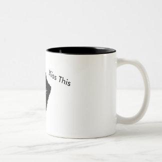 Kiss This Two-Tone Coffee Mug