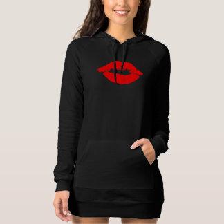 Kiss. Two Red Lips. Lipstick. Tshirt