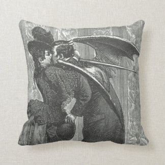 "Kiss Victorian/Gothic Vampire 20"" Sq Throw Pillow"
