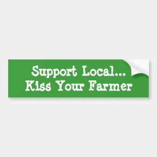 Kiss Your Farmer Bumper Sticker