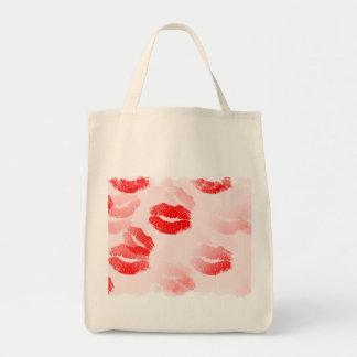 Kissable Lips Grocery Tote Bag