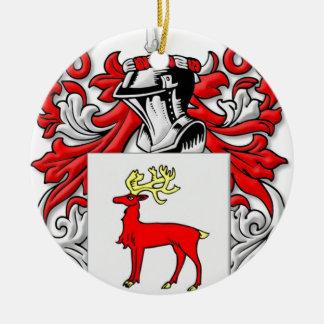 Kissane Coat of Arms Round Ceramic Decoration