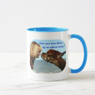 """Kissed by an Alpaca!"" Mug"