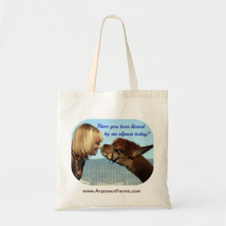 Kissed by an Alpaca Tote Bag