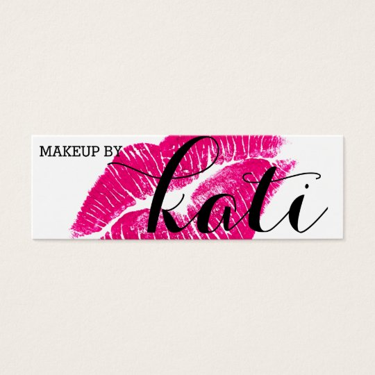 Kissed Makeup Artist Card