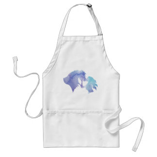 Kissed Watercolor Horse and Girl Apron