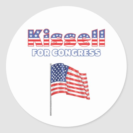 Kissell for Congress Patriotic American Flag Stickers
