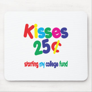 KISSES 25 Cents ... College Fund Mouse Pads