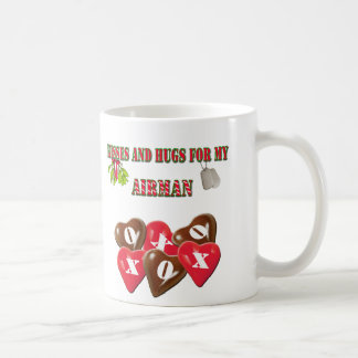 Kisses And Hugs For My Airman Coffee Cup Basic White Mug