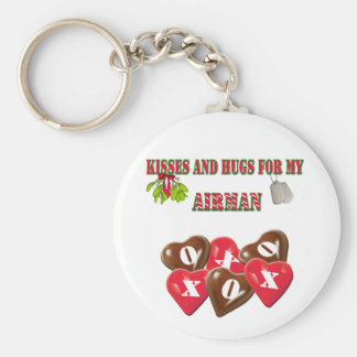 Kisses And Hugs For My Airman Keychain