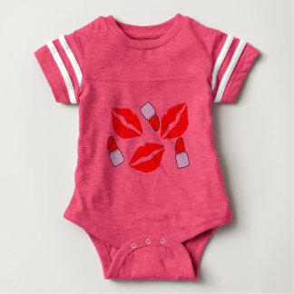 kisses and lipsticks baby bodysuit