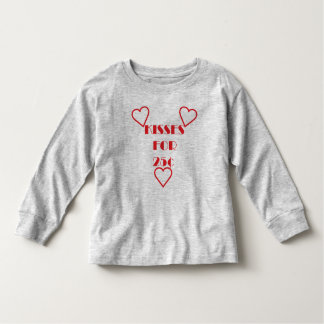 Kisses for 25 cents - Toddler Long Sleeve T-Shirt Tshirts