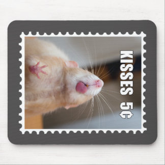 Kisses from Marty Postage Stamp Mouse Pad