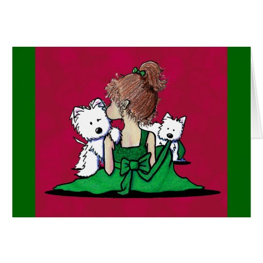 Kisses & Giggles Westie Dogs Christmas Card