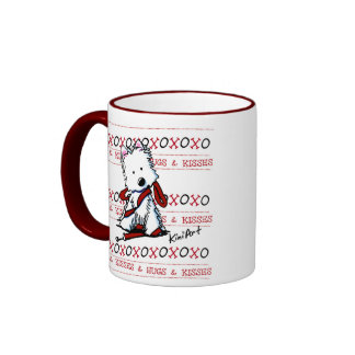 Kisses & Hugs Westie Dog Mug Ringer Mug