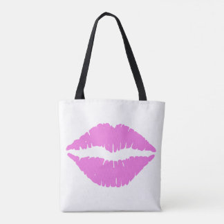 Kisses Lipstick Lips Tote Bag