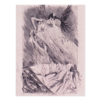 Kisses of Death by Felicien Rops Postcard