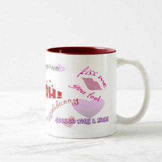 kisses Two-Tone coffee mug